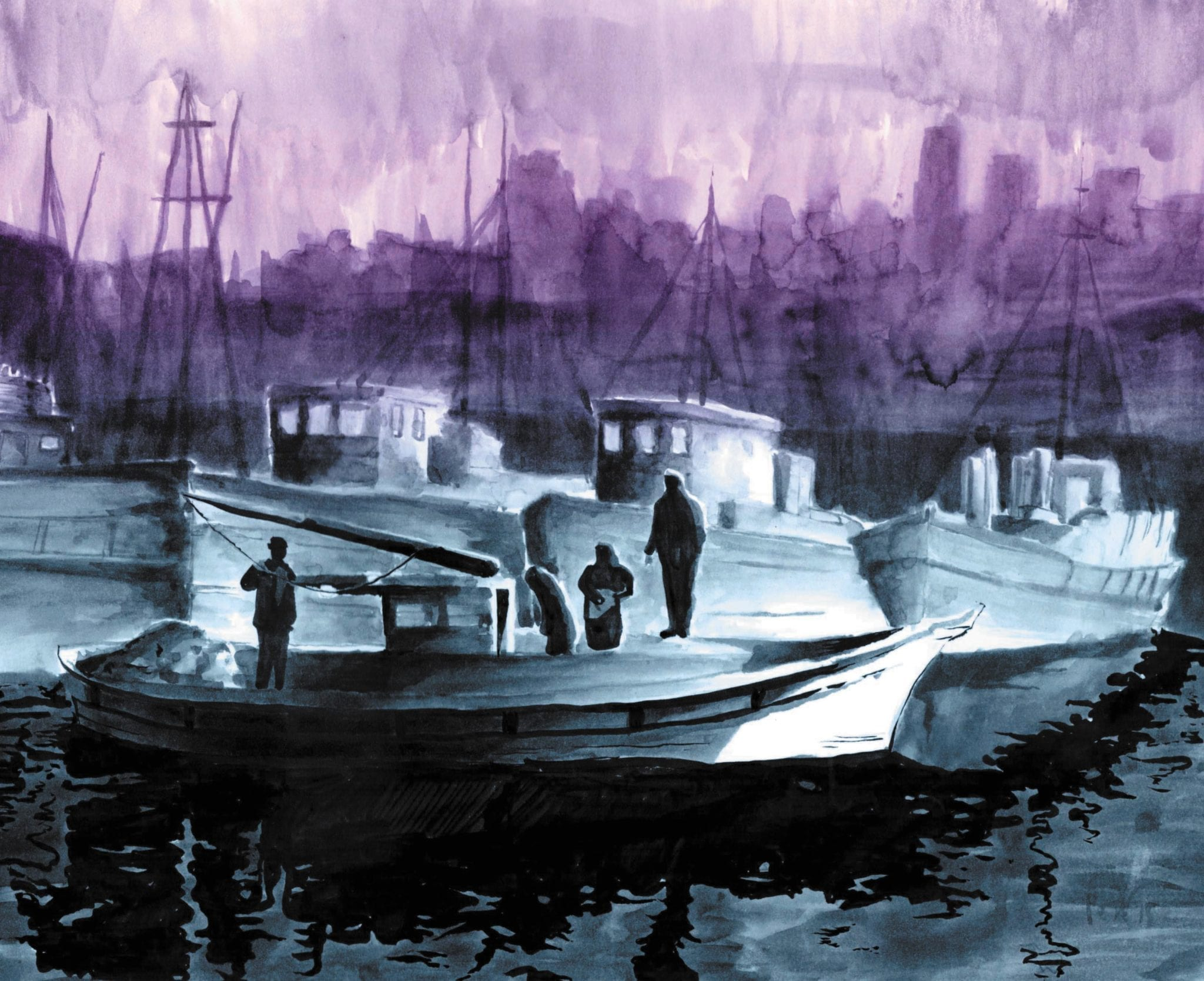 Boats art by Peter Glanting